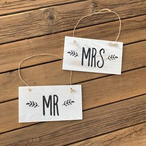Other - ♡ MR. & MRS. ♡ WOOD SIGN